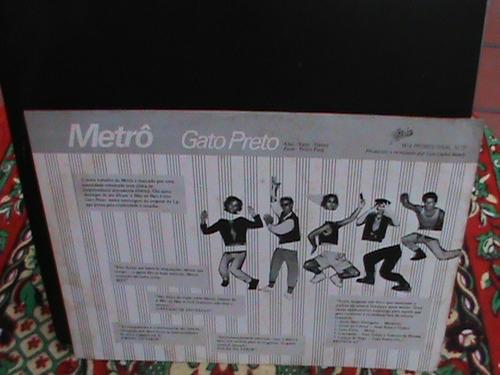lp mix banda metrô - gato preto  promocional  com release