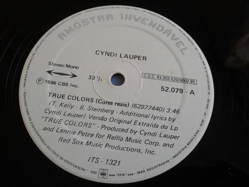 lp mix cyndi lauper - true colors cbs ed. nacional 1986 raro