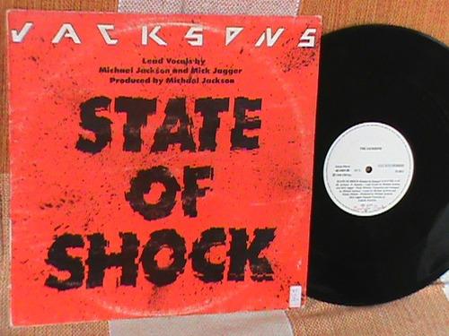 lp mix michael jackson / mick jagger state of shock 84 nacio