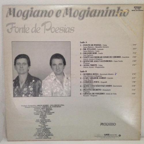 lp mogiano e mogianinho (fonte de poesias) hbs