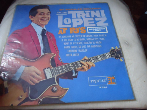 lp - more trini lopez / at pj's recorded live  latinas .(a2)