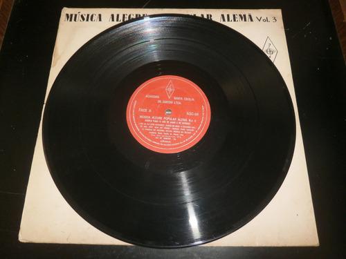 lp música alegre e popular alemã vol.3, disco vinil