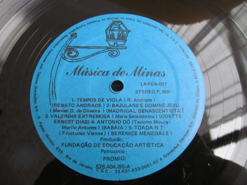 lp musica de minas renato andrade madrigal tavinho fructuose