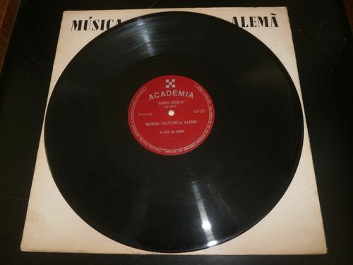 lp música folclorica alemã vol.4, santa cecilia, disco vinil