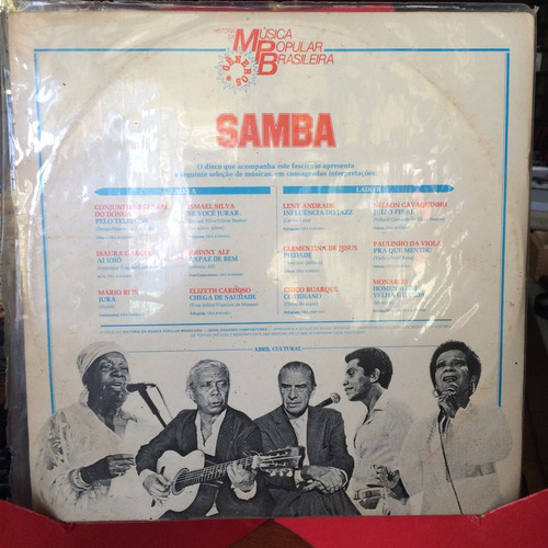 lp- musica popular brasileira - samba
