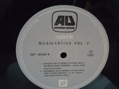 lp musikantiga vol.2- artistas unidos- 1968