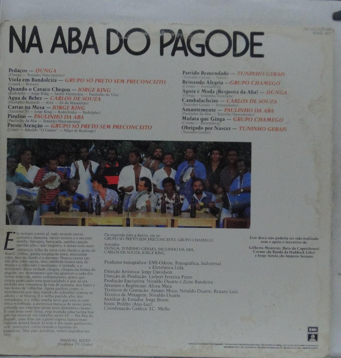 3969fef4c0e Lp Na Aba Do Pagode - 1986 - N020 - R  13