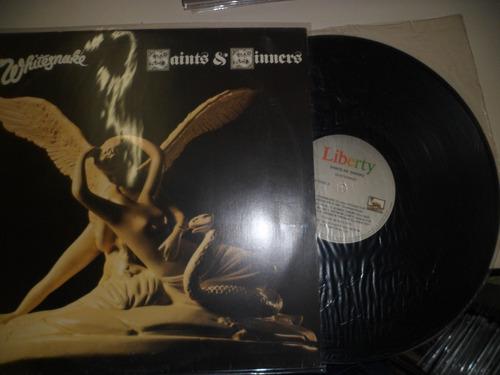 lp nacional - whitesnake - saints & sinners - frete 15,00