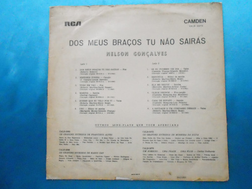 lp nelson gonçalves p/ 1965- dos meus braços tu não sairás