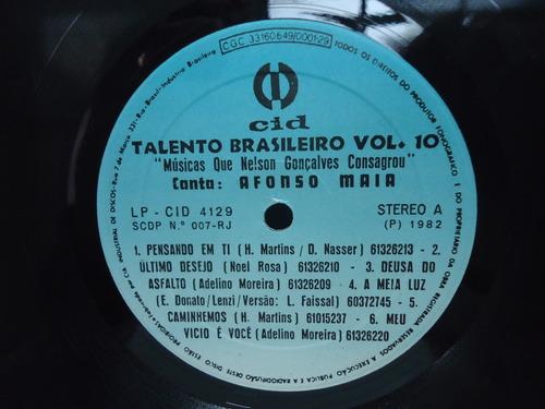 lp nelson gonçalves talento brasileiro vol.10 selo cid 1982