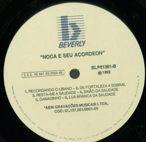 lp noca do acordeon - beverly  1982