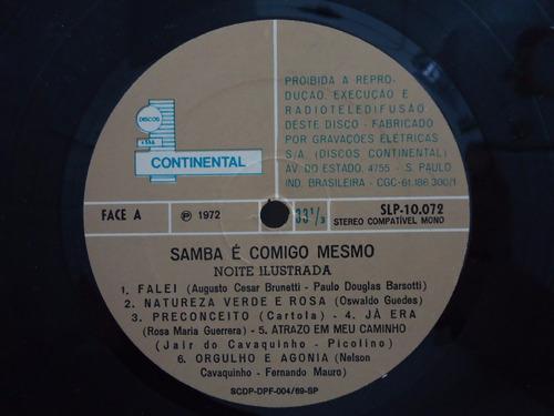 lp noite ilustrada - samba é comigo mesmo - continental