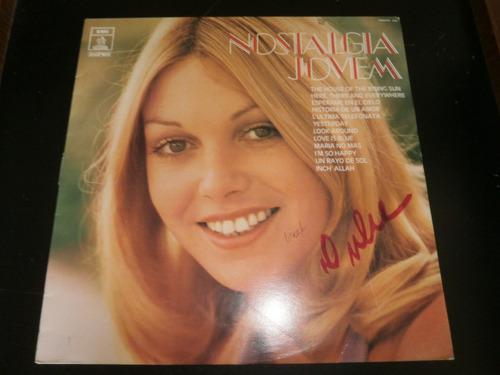 lp nostalgia jovem - vários cantores, disco vinil raro