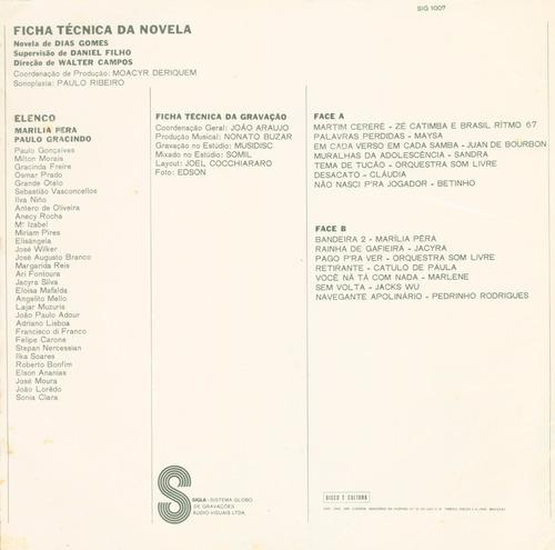 lp novela bandeira 2 - 1971 - som livre
