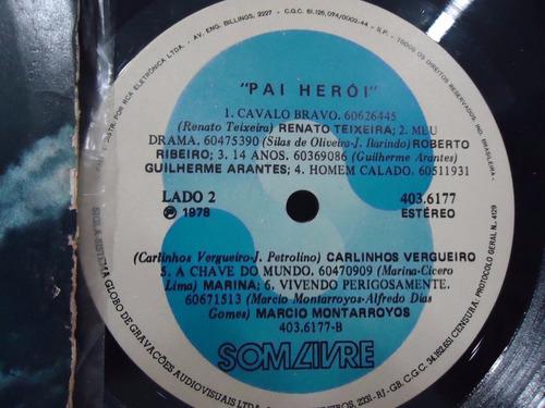 lp novela pai herói- trilha sonora- som livre- 1978