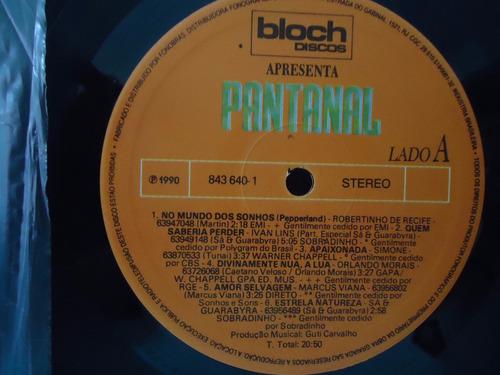 lp novela pantanal- trilha sonora- selo bloch- 1990