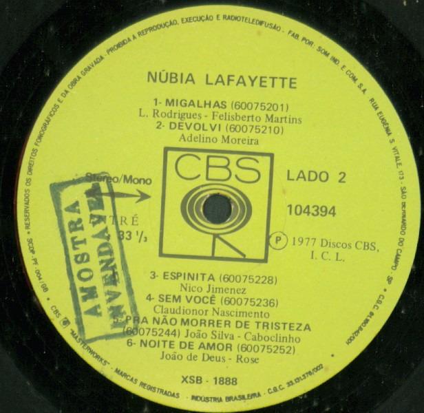 Lp nubia lafayette n o te esquecerei 1977 cbs r for Cronotermostato lafayette cds 30