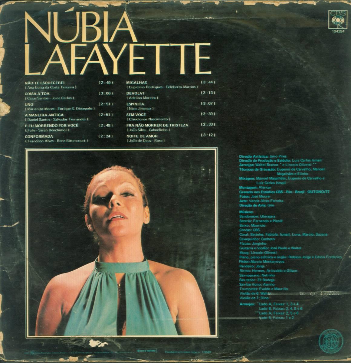 Lp nubia lafayette n o te esquecerei 1977 cbs r for Lafayette cds 30
