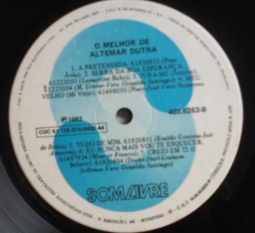 lp o melhor de altemar dutra 1982 o trovador impecável