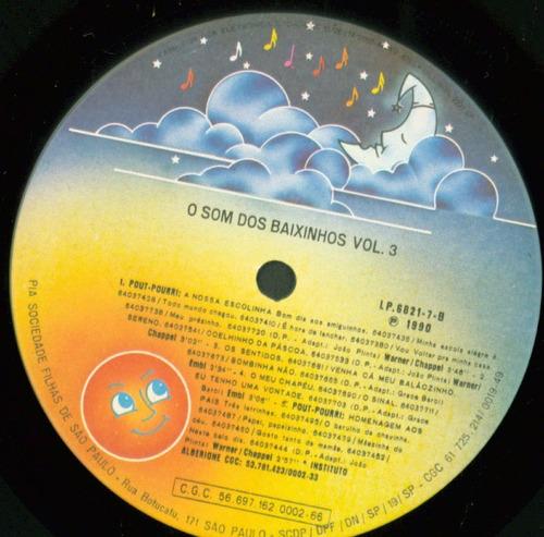 lp o som dos baixinhos vol 3 - 1990 - comep