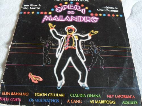 lp opera do malandro/trilha sonora do filme/ ano de 1985
