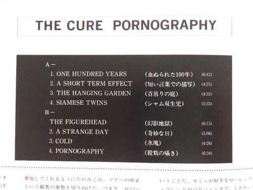 lp original the cure pornography hecho en japón japonés 1982