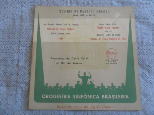 lp orquestra sinfonica brasileira - mestres do barroco minei