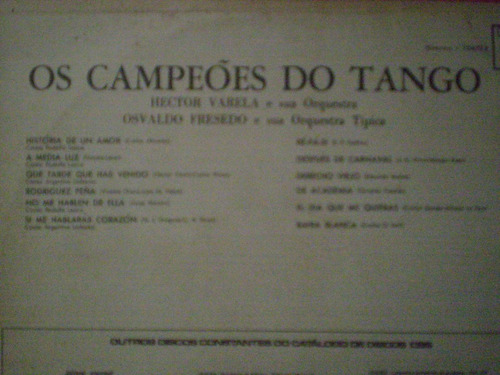 lp os campeões do tango hector varela osvaldo fresedo
