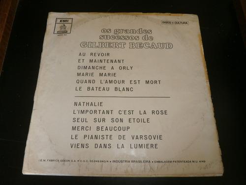 lp os grandes sucessos de gilbert becaud, disco vinil, 1969