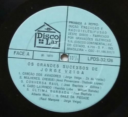 lp os grandes sucessos de jorge veiga (1970)