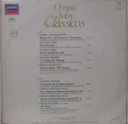 lp os mais belo classicos - 1989 - london