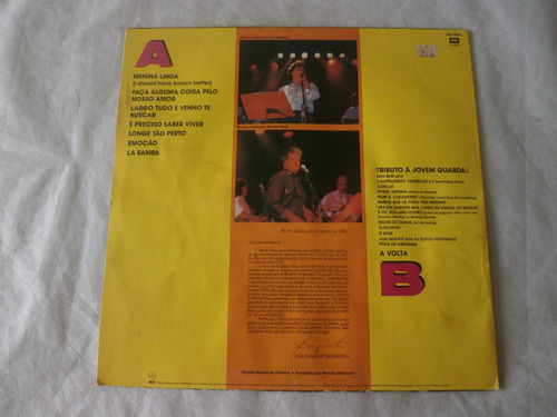 lp os vips ao vivo 1990 a volta, disco de vinil joven guarda