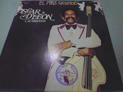 lp / oscar d'leon y su orquesta / el mas grande / vinyl /