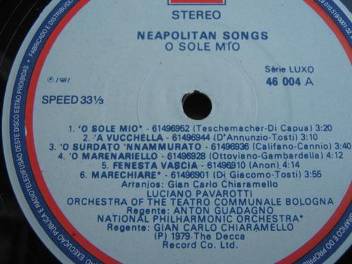 lp ótimo  o sole mio pavarotti-favourite neapolitan songs  6