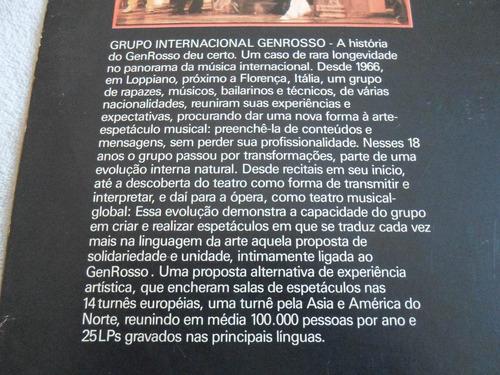 lp para construir a história/ 18 anos de genrosso/ 1985