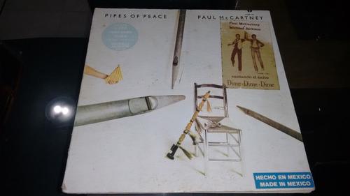 lp paul mccartney pipes of peace en acetato,long play