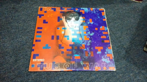 lp paul mccartney tug of war en formato acetato,long play.