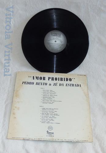 lp pedro bento e zé estrada amor proibido chantecler 1981