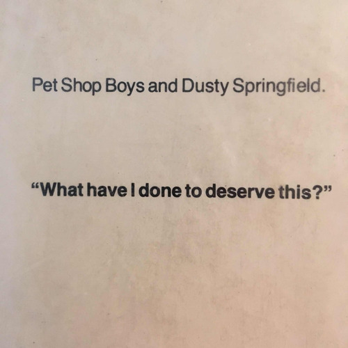 lp pet shop boys and dusty springfield what have i done to..