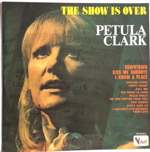 lp - petula clark - the show is over - 1973