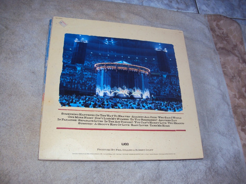 lp phil collins - serious hits live 1985, duplo e capa dupla