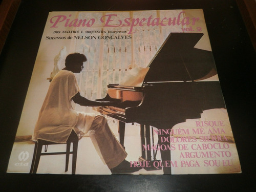 lp piano espetacular vol.2 don euclydes, disco vinil, 1984