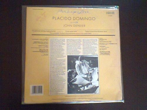 lp placido domingo with john denver - perhaps love.