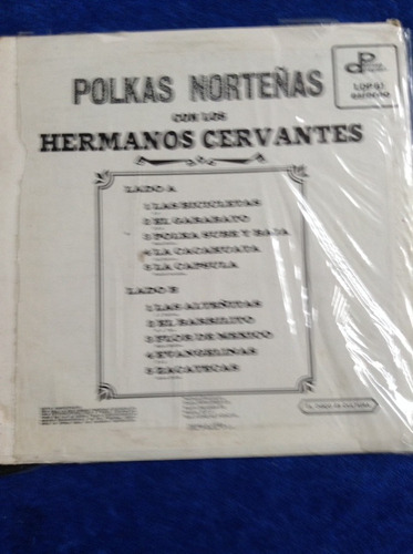 lp polkas norteñas hermanos cervantes