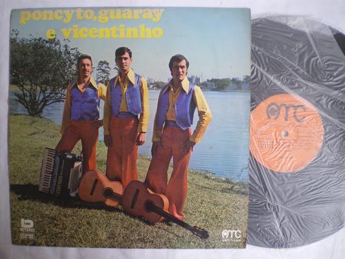 lp - poncyto, guaray e vicentinho / amc / 1976