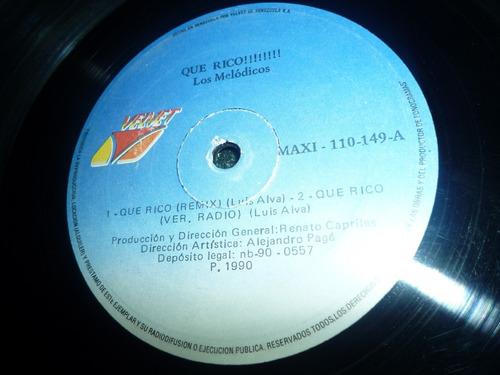 lp / que rico (extended remix) los melódicos / remix