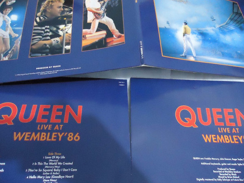 lp - queen - live at wembley '86 - duplo- colorido
