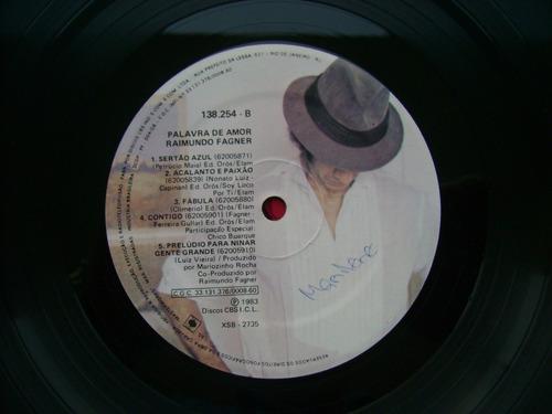 lp raimundo fagner p/1983 - palavra de amor fagner