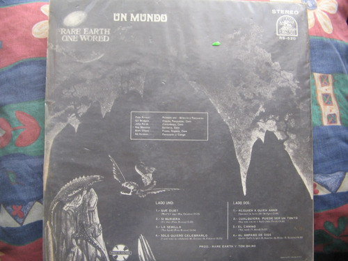 lp rare earth- one world edicion chilena