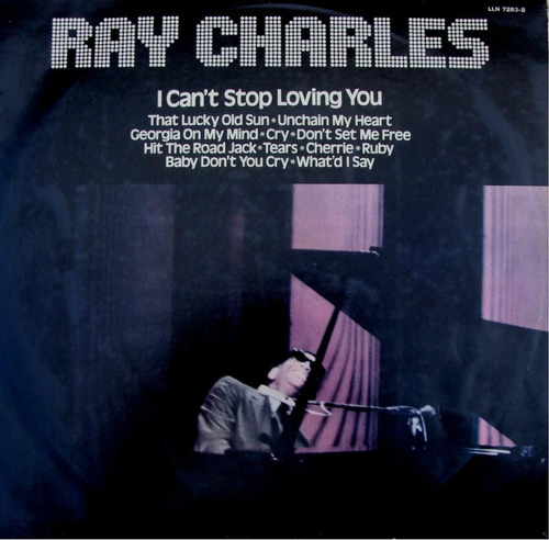 lp  ray charles i cant stop loving you